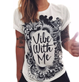 S-XXL 2017 New Print T Shirt Women Fashion Logo Short Sleeve Casual Shirts Plus Size O-NeckCotton Camisetas Mujer Summer Tops