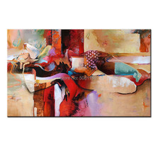 100% Handpainted High Quality design New Oil Painting sexy sleeping woman Paint Cubism girl picture Unique Gift For Home Decor new unique design 100