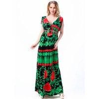 Fashion Vestido Europeu Large Size 4XL 5XL 6XL 7XL New Flower Printing Australia Deep V Neck