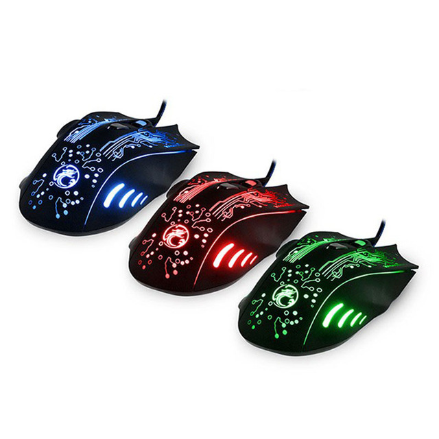 Adjustable 5000DPI Wired Gaming Mouse X9 LED Backlight Optical Mouse Mice Pro Gamer For PC Computer Laptop Play DOTA2 CSGO LOL