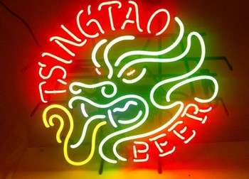 Tsingtao Dragon Beer Glass Neon Light Sign Beer Bar