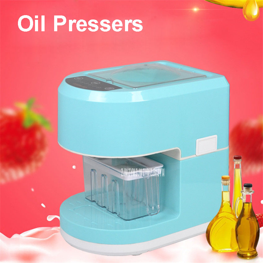 1PC 220V Full-Automatic Seed Oil Press Machine Home Use Peanut Oil Pressing Presser Machine Cold-pressed Hot-pressed automatic small peanut oil press machine oil soybean presser 220v 200w stainless steel brand new for home use