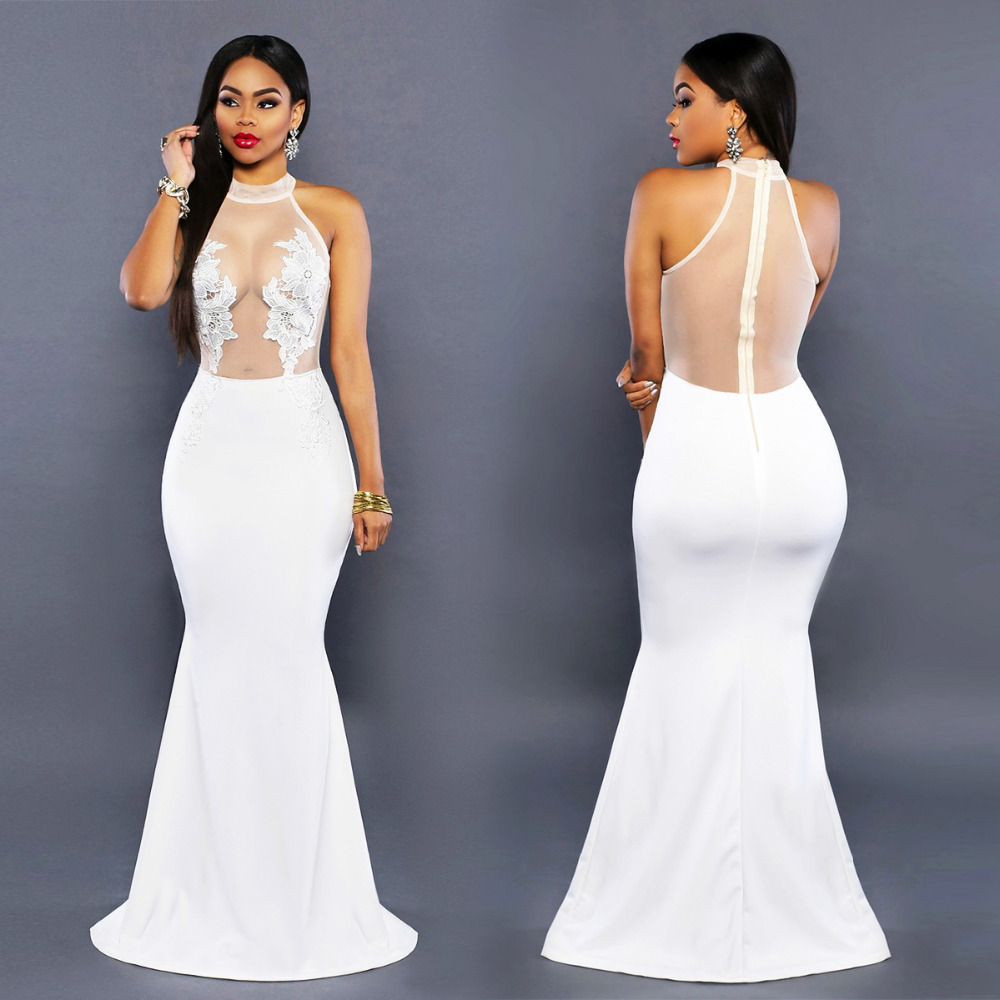 bodycon wedding dress Missguided Lace Plunge Bodycon Dress White