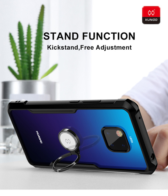 Luxury With Airbags Shockproof Case For Huawei Mate 20 Pro X Phone Silicone 360 Full Protective Cover Cases Magnetic car holder
