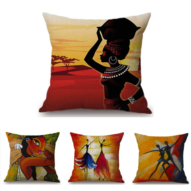 Africa Cushion Cover Home Decor Enthic Decorative Pillowcase African