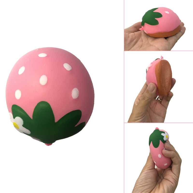 Squishy Chocolate Strawberry Scented Slow Rising Collection Squeeze Stress Reliever Toy