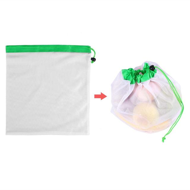 DCOS 12pcs Reusable Mesh Produce Bags Washable Eco Friendly Bags for Grocery Shopping Storage Fruit Vegetable Toys 5