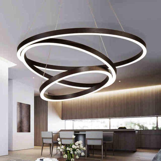 Modern Led Pendant Light For Kitchen Dining Room Black Lamp LED Lighting Fixtures Suspension Hanging Lustres E Pendentes
