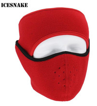 ICESNAKE Motorcycle Face Mask Keep Warm Ski Winter Protect the Neck Half Breathing Cold