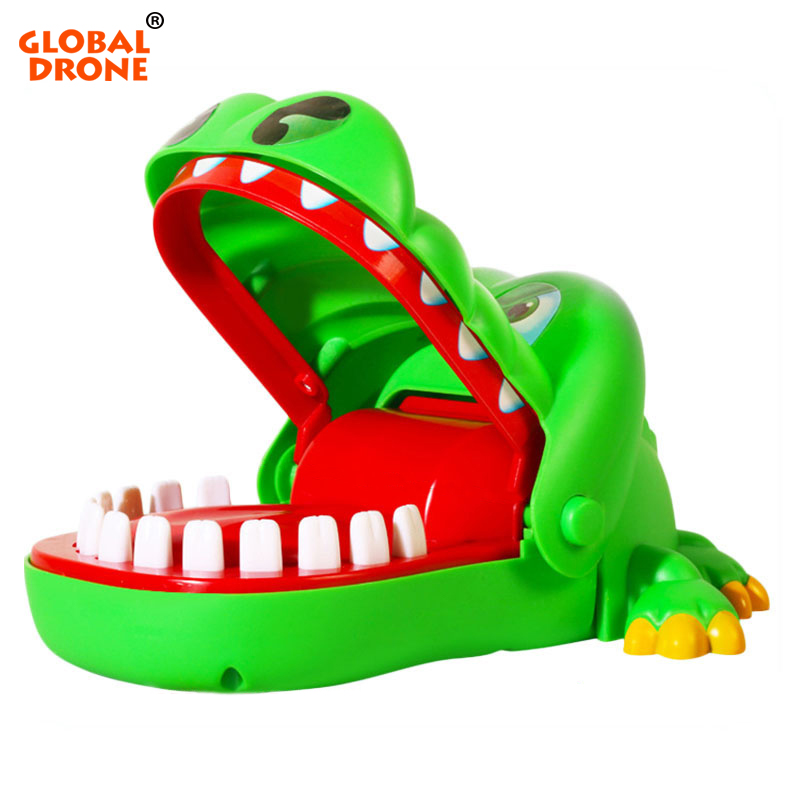 Global Drone Crocodile Mouth Dentist Big mouth Crocodile Biting finger Game Funny Gift Stress Relief Gags Novelty Toys For Kids metal stress relief spinner toy hand finger gyro