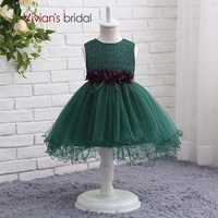 Vivian's Bridal Lace Tulle Ball Gown Flower Girl Dresses Birthday Gown for 7 Years Old Summer Party Dresses