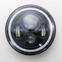 1 Set Vehicle Car 7 Inch LED Headlight H4 H13 Amber Angel Eyes Lamp Bulb For JEEP CJ JK TJ Wrangler Harley Car Accessories