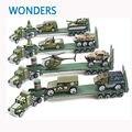 Coche de la aleación transportador 1 : 64 camión del ejército con vehículos de aleación de metal modelo toy Car carrier regalo colección