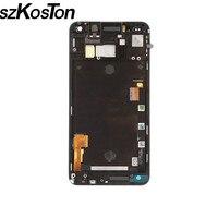 SZKOSTON Schermo LCD Per HTC One M7 LCD Con Touch Screen Digitizer assemblea Completa + Telaio lunetta parti di riparazione Per HTC M7 LCD