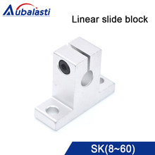 SK Linear Shaft Support SK8 SK10 12 13 16 20 25 35 linear guide rail linear bearing for CNC Router engraving & cutting machine(China)