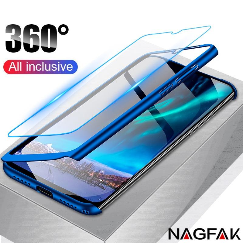 anti-knock 360 full cover phone case for huawei y9 y7 y6