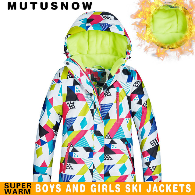 e387de90d US $29.25 35% OFF|MUTUSNOW Kids Ski Jacket Winter Children Windproof  Waterproof Super Warm Ski Clothes Girls Snow Coat 30 Winter Snowboard  Jacket-in ...