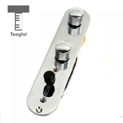 Tooyful 1Pc Chrome plated Iron & Knobs Loaded Prewired Control Plate Switch Harness Replacement for Telecaster Guitar Accessory gold chrome black plated wired control plate for electric guitar replacement parts