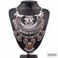 2017 новый модный дизайн бренда монеты ожерелье металлическая цепь большой кулон себе коренастый ожерелье для женщин ювелирные изделия