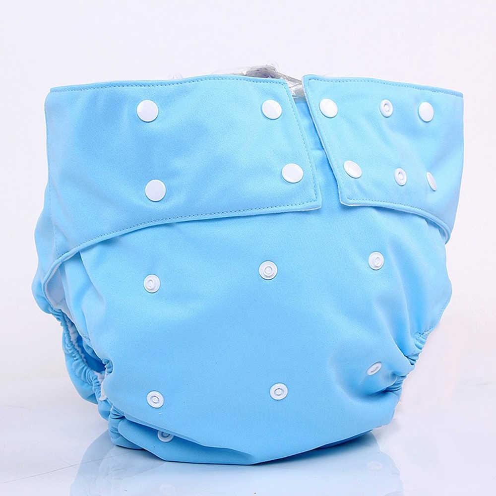Pañales para adultos cubierta de tela de microfibra inserto desechable de fibra de bambú pañales lavables Kits reutilizables talla única se adapta a todos