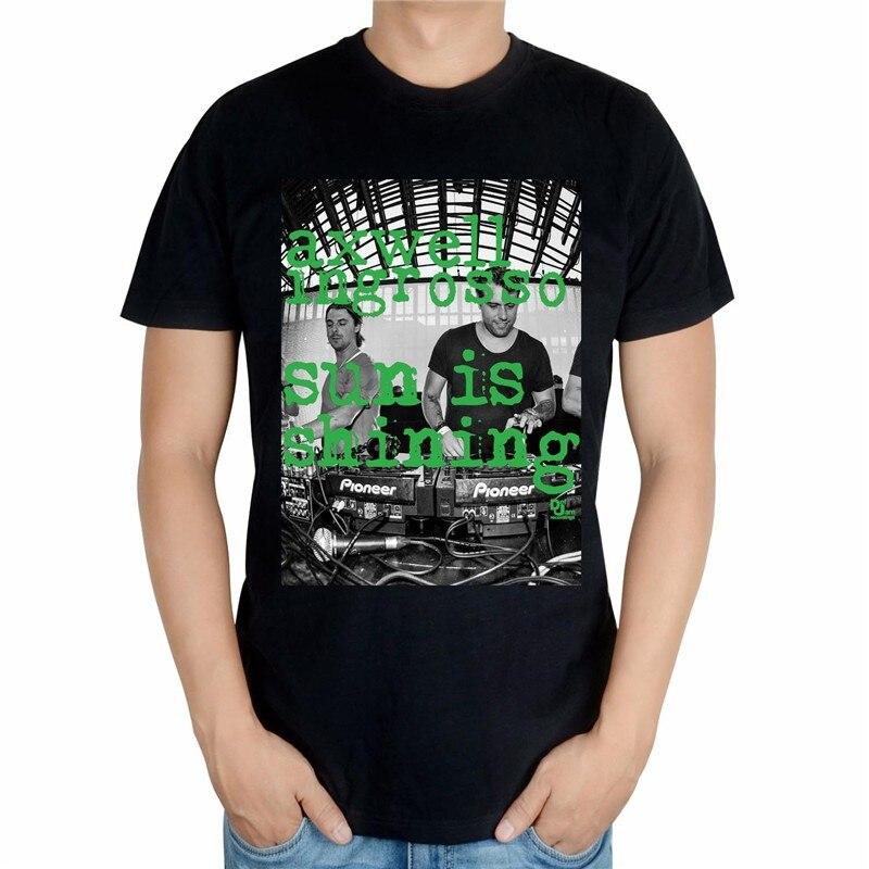 4 вида конструкций черный, белый цвет Летний Стиль Прохладный axwell ingrosso бренд певица DJ мастер ММА принт 3D хлопковая футболка музыка фитнес