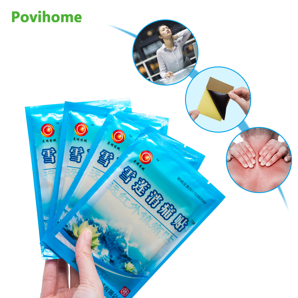 Povihome 24Pcs 3Bags Medical Arthritis Pain Plaster Upper Back Muscle Pain Relief Patch Sciatica Back Pain