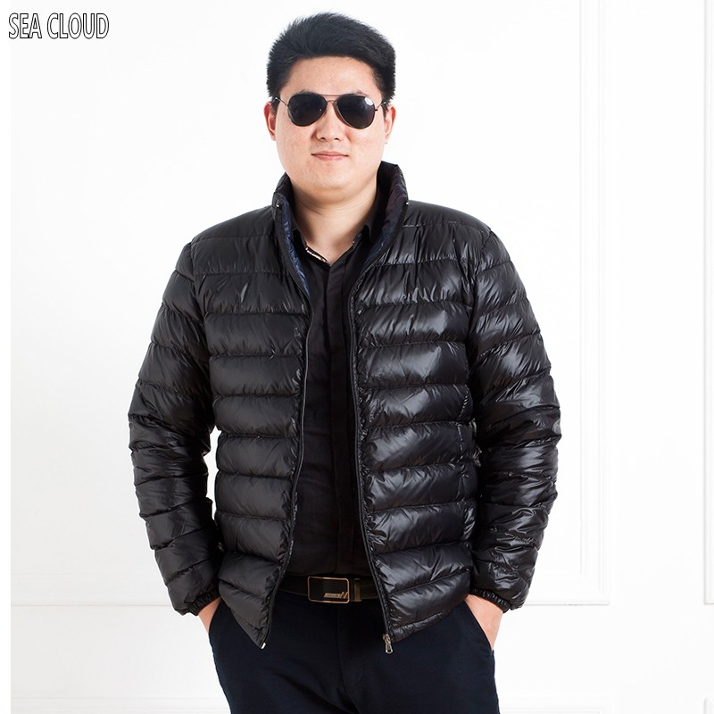 Sea Cloud Winter plus size men's clothing fat thickening thermal stand collar short design warm outerwear thin coat M-7XL 150kg