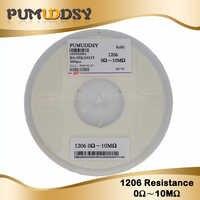 5000pcs 1% 1206 smd chip resistor resistors 0R-10M 1/4W 10R 22R 47R 100R 150R 220R 470R