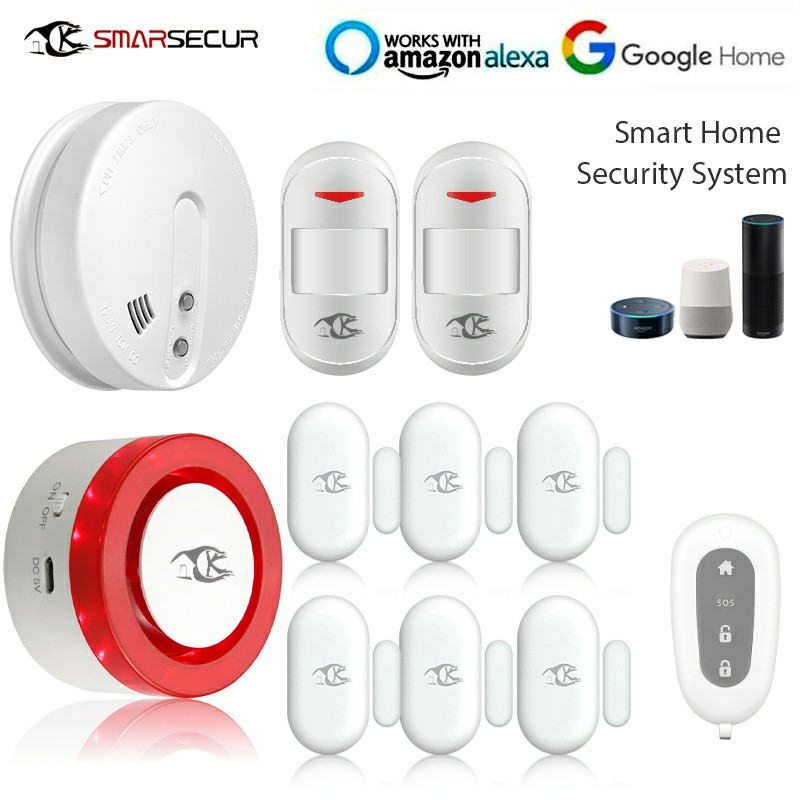 Wireless WIFI Shine Light Siren with Alarm Sensor For Smart Home Security System