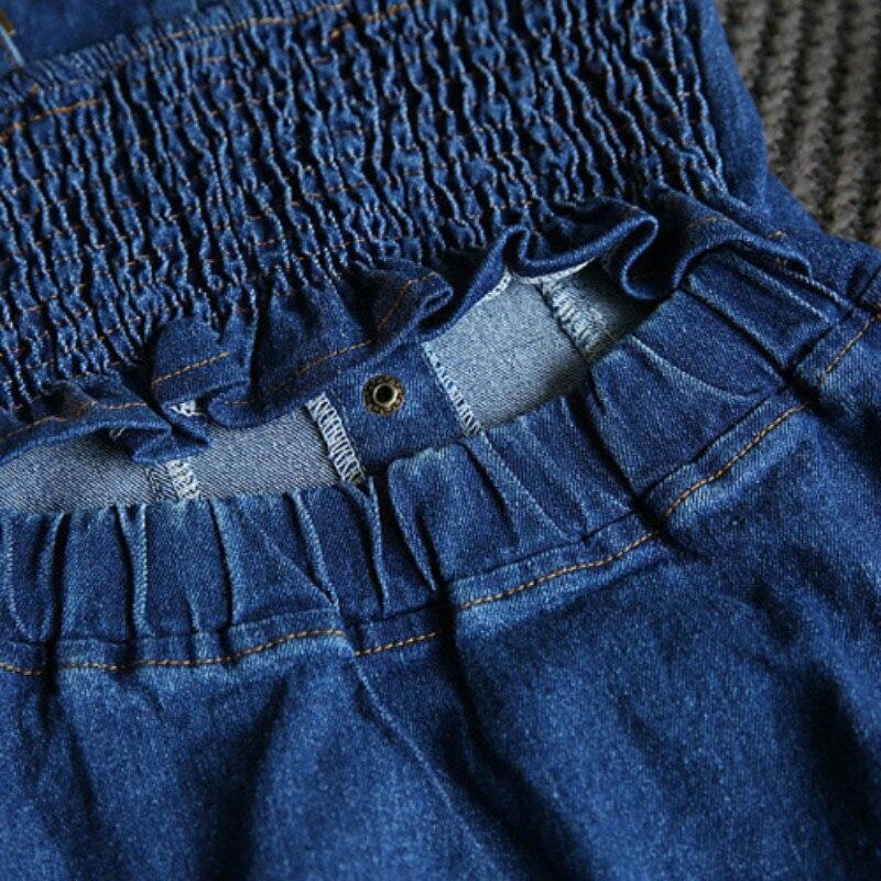 80da9e8aa04e Denim Jeans Menina Marinha Verão Suspender Vestido Meninas Irritar Projeto  Raglan Lavagem Luz Especial Backside tamanho Idade 2 3 4 5 6 7 t Anos em  Vestidos ...
