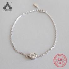 Real 925 Silver Chain Bracelet for Women Shiny AAAA Cubic Zircon Crystal Charm Bracelets Fashion Jewelry цена 2017