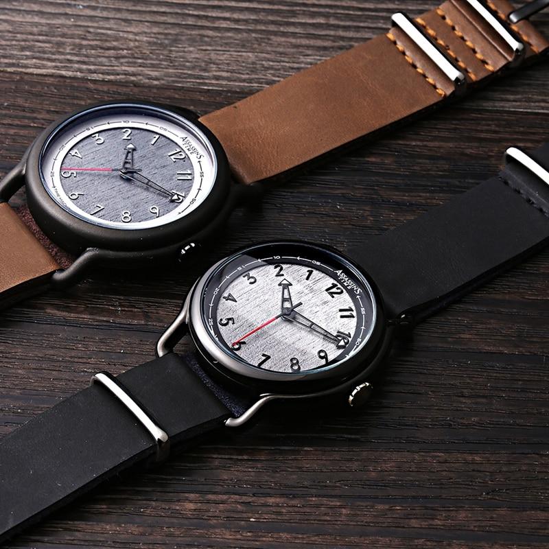 Assassin's tijd heren horloges topmerk luxe quartz horloges zwart - Herenhorloges - Foto 3