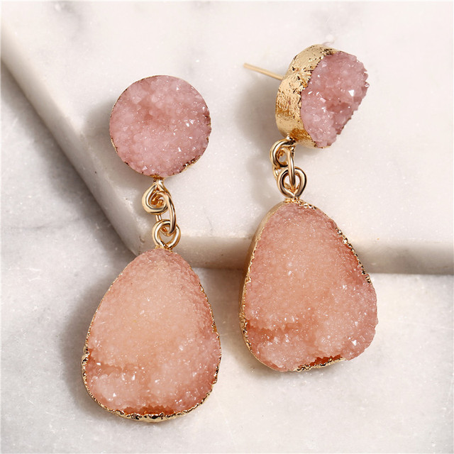 AY 2019 New Bohemian Natural Stone ZA Drop Earrings for Women Wedding Party Brand Design Ins.jpg 640x640 - AY 2019 New Bohemian Natural Stone ZA Drop Earrings for Women Wedding Party Brand Design Ins Trendy Dangle Earrings Gifts