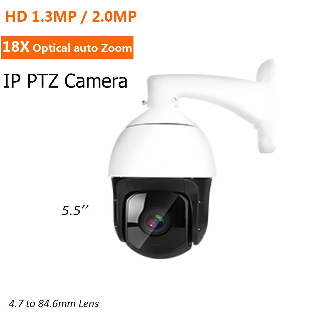 4.7-84.6mm 18X optical zoom Lens HD 1.3MP 2MP IP Camera PTZ Pan Tilt Zoom Speed Dome Camera Outdoor Network Cam Onvif XMEYE p2p