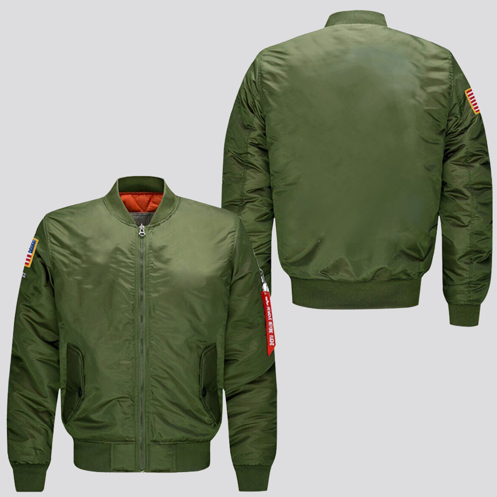 2019 hot  spring autumn man bomber jacket customize design male flight jacket   us size