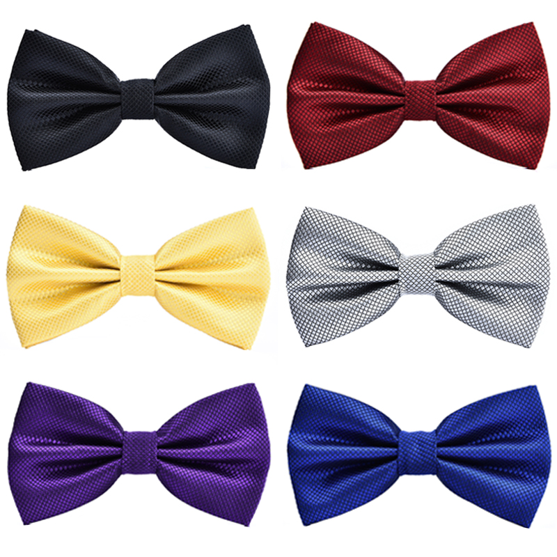 New Good Quality  Grid Bowtie For Men Women Banquet Wedding Party Groom Bow Tie Butterfly Knot Black Red White Mens Bowties