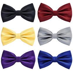 Новый хорошее качество сетки Мужской и женский галстук-бабочка банкета Свадебная вечеринка галстук-бабочка жениха бабочка узел Черный