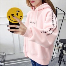 womens casual hoodies sweatshirt letter printed printing cotton full new winter female womenss pullovers XL