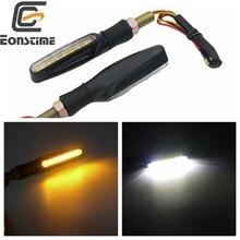 Buy Eonstime Amber/White Motorcycle 15LED Turn Signal Light DRL white daytime running lamp Indicator Blinker Flashers Universal directly from merchant!