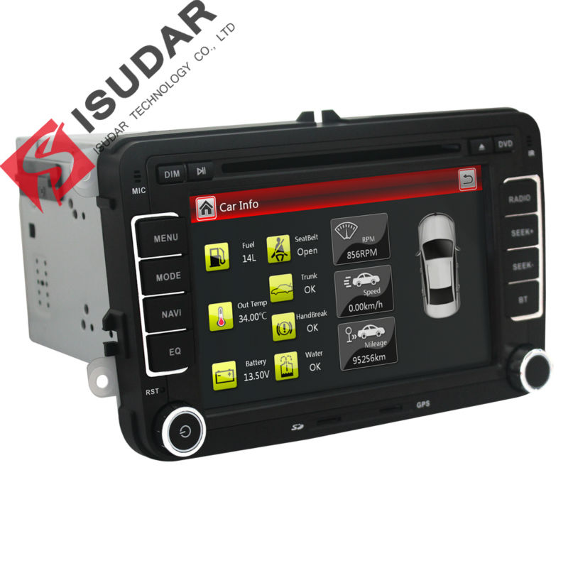Lecteur Multimédia de Voiture Isudar 2 din DVD de voiture pour VW/Volkswagen/Golf/Polo/Tiguan/Passat/b7/b6/SEAT/leon/Skoda/Octavia Radio GPS DAB - 5