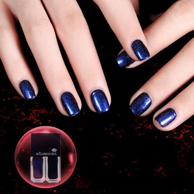 Marca BK 2 Unids/set Base + Cielo Estrellado Negro Esmalte de Uñas de Larga Duración Laca de Uñas Sello de Estampación Holográfica Holo Esmalte pintura
