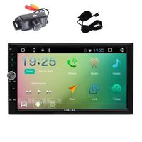 Camera+2 Din Multi touch Screen Head Unit Android 6.0 GPS Navigation Car Stereo FM/AM Auto Radio Audio Vehicle Steering Wheel