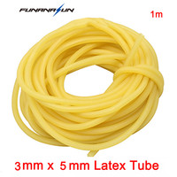 2pcs/lot 1m Natural Latex Tubing Rubber Medical Resilient Tube For Slingshot Catapult Stretch Elastic Part Rubber 3x5mm