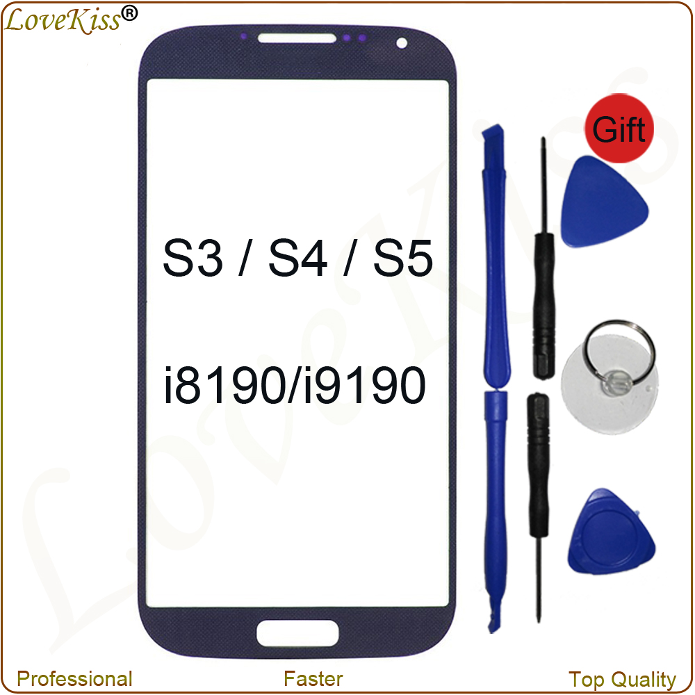 New Tested Touch Screen Lens For <font><b>Samsung</b></font> <font><b>Galaxy</b></font> S3 Neo S4 <font><b>S5</b></font> Mini i8190 i9190 G900 Front Panel LCD Outer <font><b>Glass</b></font> Cover <font><b>Replacement</b></font> image