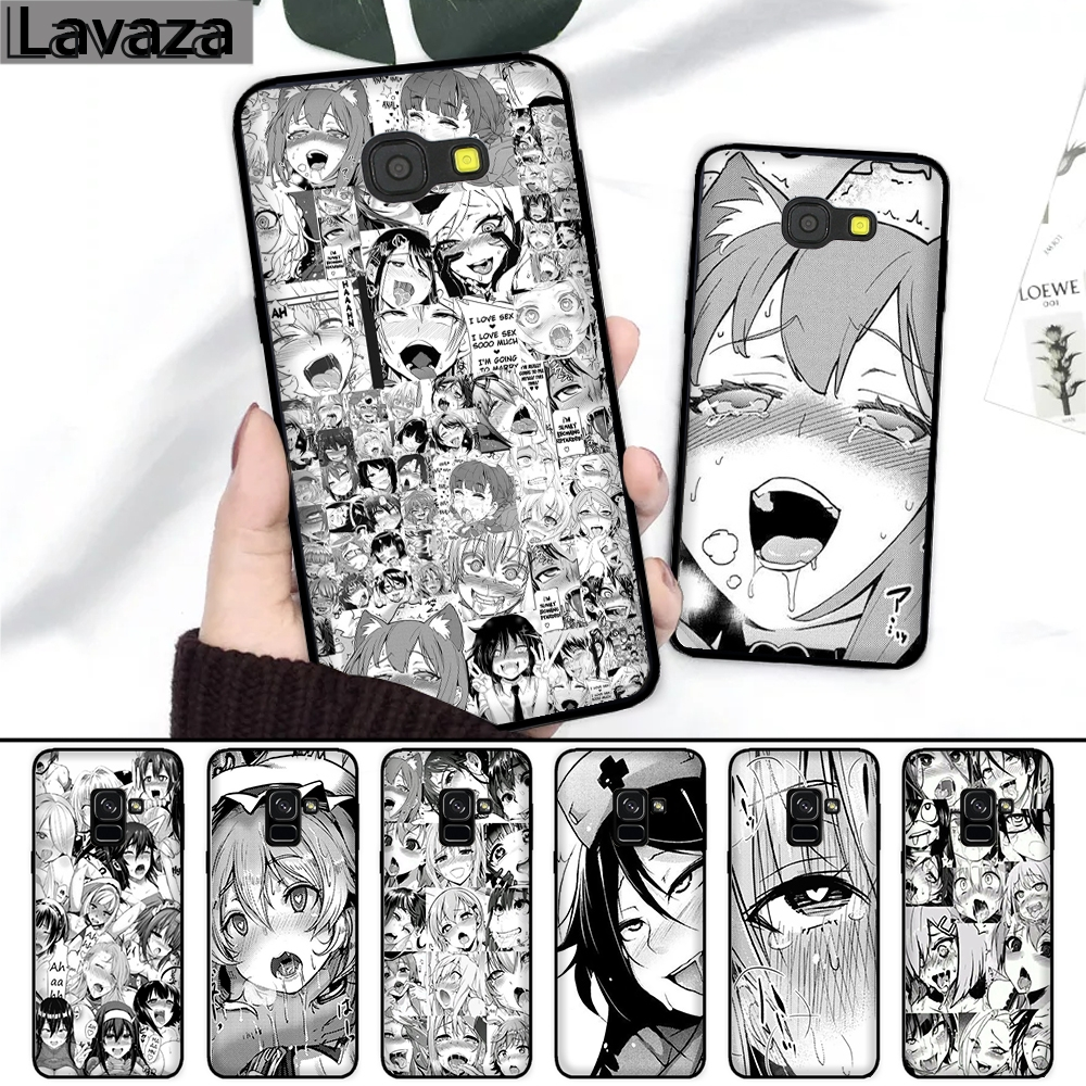 Lavaza Anime girl cartoon japan faces Silicone <font><b>Case</b></font> for <font><b>Samsung</b></font> A3 A5 2016 2017 A6 Plus A7 A8 A9 A10 <font><b>A30</b></font> A40 A50 A70 J6 2018 image