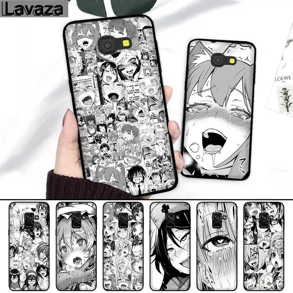 2882ce35083 Lavaza chica Anime de dibujos animados de Japón caras funda de silicona  para Samsung A3 A5 2016 2017 A6 más A7 A8 A9 A10 a30 A40 A50 A70 J6 2018