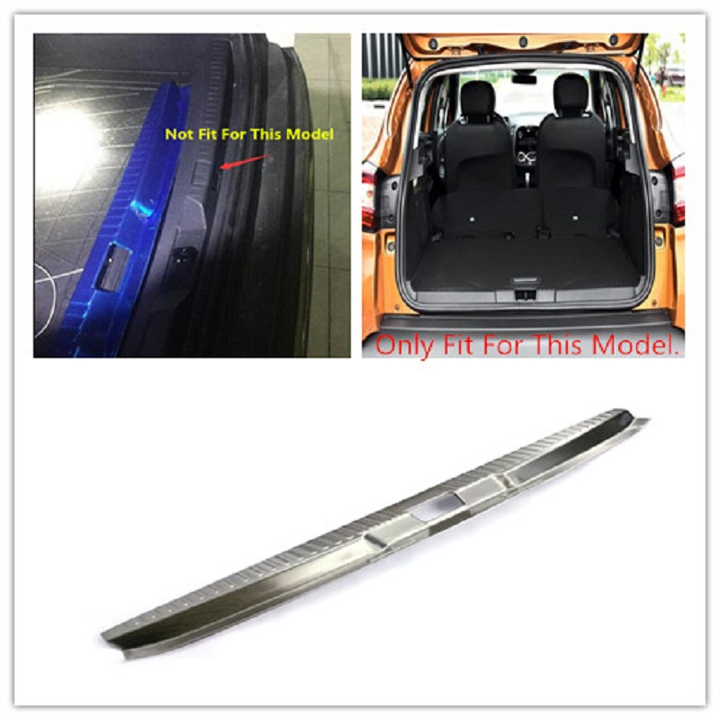 For Renault Captur 2013-2018 stainless rear bumper protector step cover sill plate trunk trim car Styling Accessories high quality stainless steel accessories rear bumper protector sill plate cover trunk trim for mazda cx 5 cx5 2017 car styling