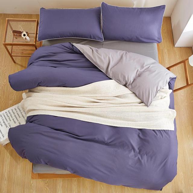 Purple bedding sets youll love dark violet solid color for Bedding violet