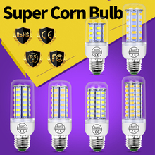 LED Light E27 Corn Bulb 220V High Lumen SMD5730 E14 Led Energy saving Lamp 24 36 48 56 69 72leds Lampada Led For Home Decoration недорого