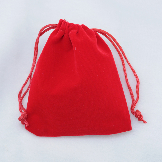 Customized Logo Whole 100pcs Lot Large15x20cm Red Velvet Drawstring Bag Gift Packaging Bags For Ng
